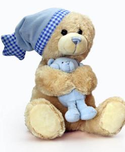 Keel Toys hudebni medvidek Cuddle Teddy (modry) a