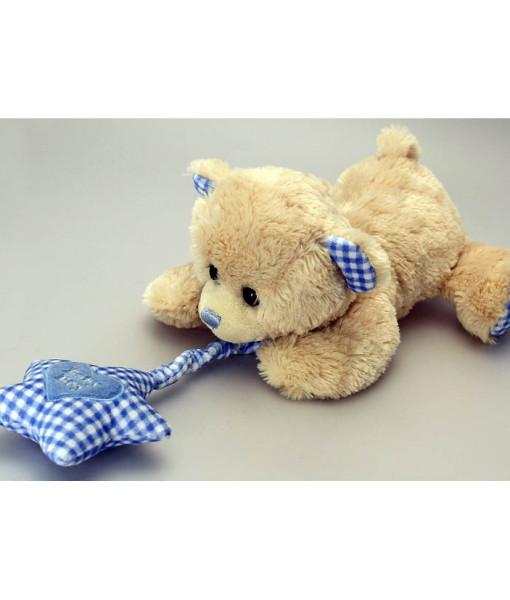 Keel Toys hrajici medvidek s hvezdickou (modry) c