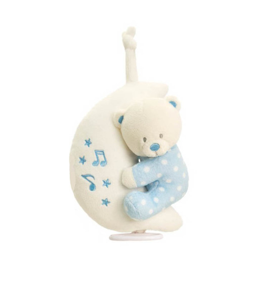 Keel Toys hudebni mesicek s modrym medvidkem