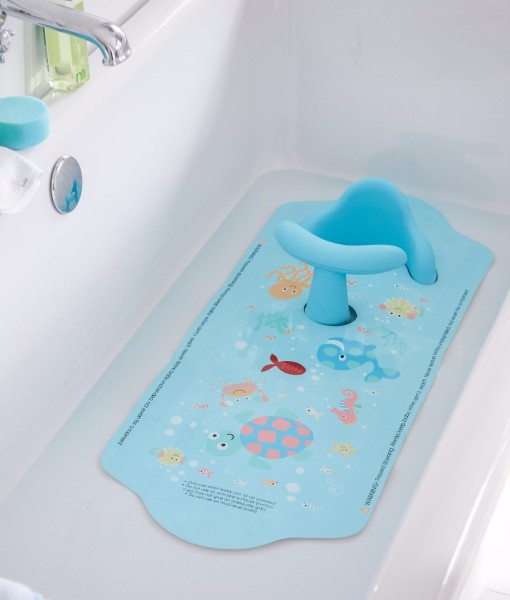 Mothercare protiskluzova podlozka do vany se sedatkem (modra) d