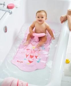 Mothercare protiskluzova podlozka do vany se sedatkem (ruzova) b