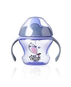 Tommee Tippee netekouci hrnecek First Cup 150 ml, 4m+ (fialovy) a