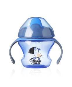 Tommee Tippee netekouci hrnecek First Cup 150 ml, 4m+ (modry) a