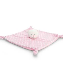 Keel Toys ruzova mazlici decka s puntiky medvidek a
