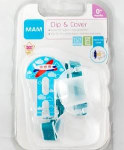MAM klip na dudlik s krytkou Clip and Cover (letadlo) b