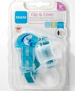 MAM klip na dudlik s krytkou Clip and Cover (zralok) b