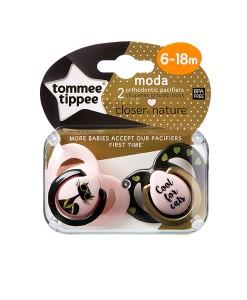 Tommee Tippee dudlik Moda kocicka C2N (6 - 18 mesicu), 2 ks b