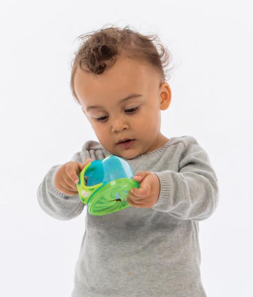 Vital Baby svacinova miska s vickem (modra) d