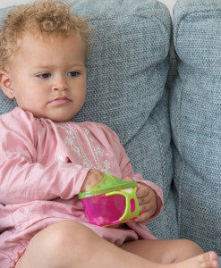 Vital Baby svacinova miska s vickem (ruzova) b
