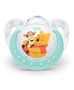 NUK dudlik Disney Medvidek Pu silikon (0 - 6 mesicu), 2 ks b