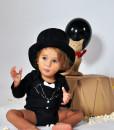 Rockabye Baby body Tuxedo (6 - 12 mesicu) b