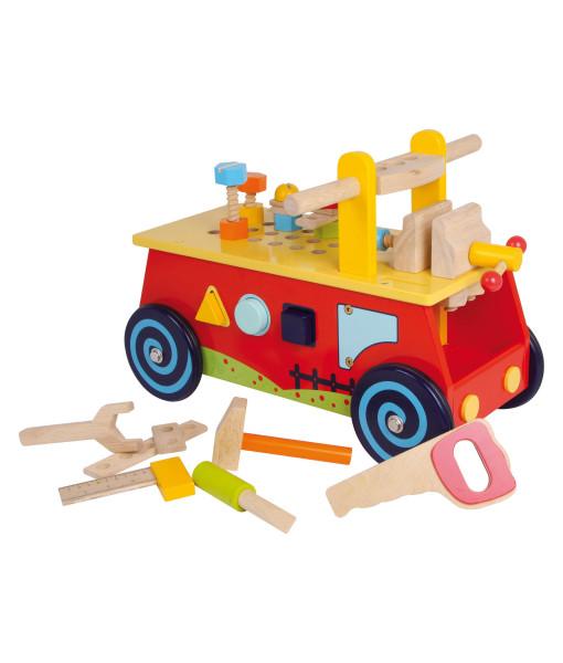Legler motoricky vozik a dreveny pracovni stul 2v1 a