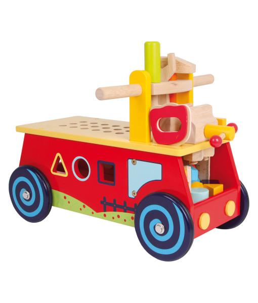 Legler motoricky vozik a dreveny pracovni stul 2v1 b