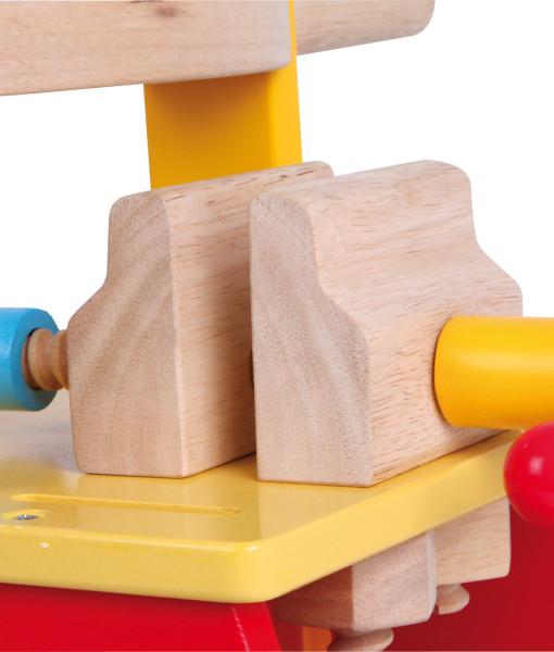Legler motoricky vozik a dreveny pracovni stul 2v1 d