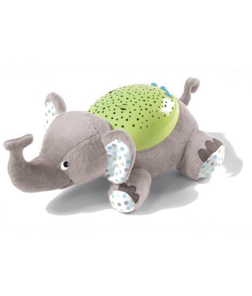 Summer Infant plysovy slon s projektorem se zvuky a
