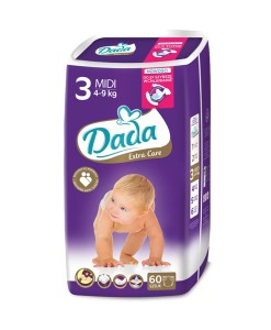 Dada plenky Extra Care 3 MIDI (4 - 9 kg, 60 ks) a
