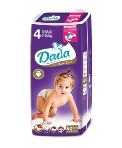 Dada plenky Extra Care 4 MAXI (7 - 18 kg, 50 ks) a