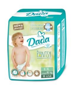 Dada plenky Pantsy 6 EXTRA LARGE (16+ kg, 18 ks) a