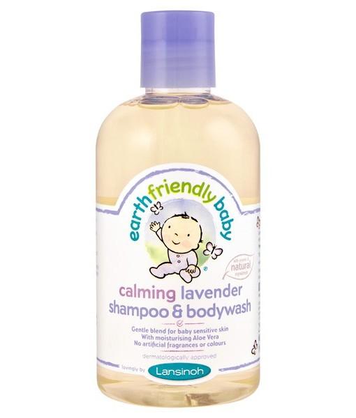 Earth Friendly Baby přírodní šampon - sprchový gel - levandule a