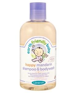Earth Friendly Baby přírodní šampon - sprchový gel - mandarinka a