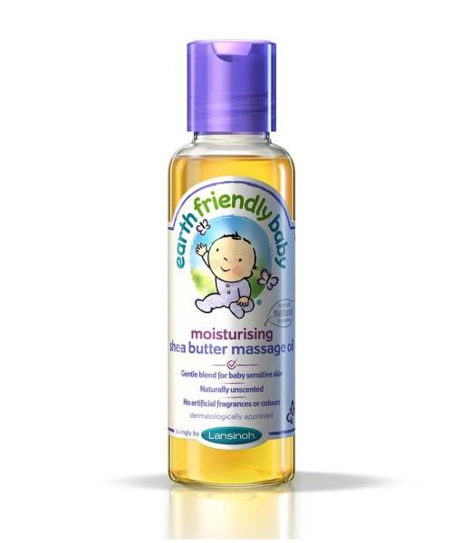 Earth Friendly Baby přírodní hydratační masážní olej s bambuckým máslem a