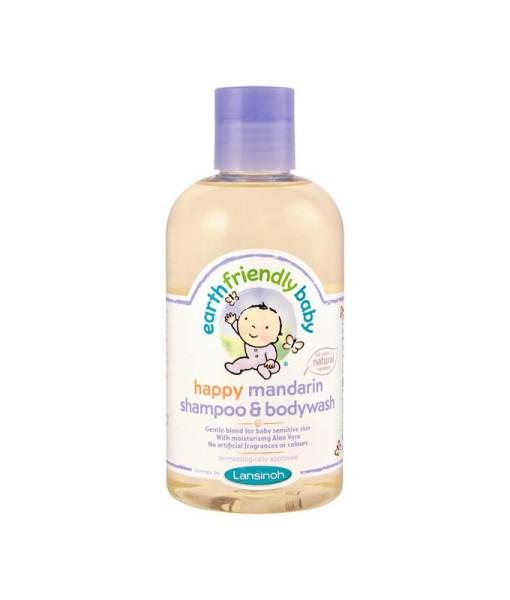 Earth Friendly Baby prirodni sampon a sprchovy gel mandarinka a