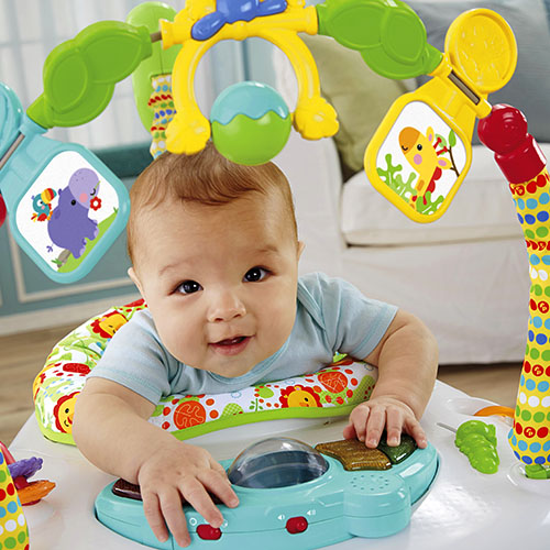 Fisher-Price skakadlo Jumperoo Rainforest f