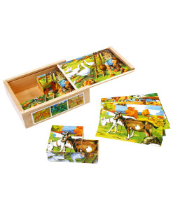 Kostkove puzzle - venkov a