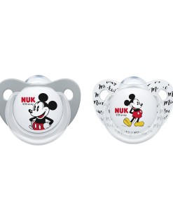 NUK dudlik Disney Mickey, V1 (0 - 6 mesicu), 2 ks a