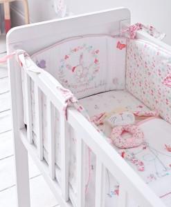 Mothercare set do postylky s mantinelem My Little Garden b