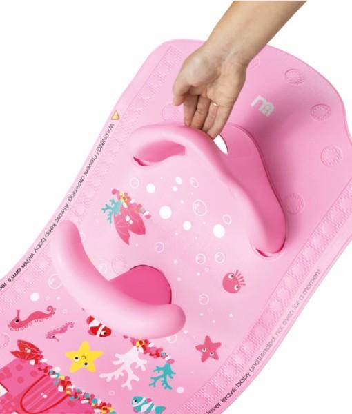 Mothercare protiskluzova podlozka do vany se sedatkem (ruzova) e