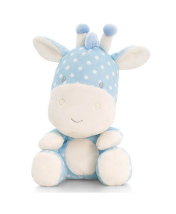 Keel Toys modra plysova zirafa a