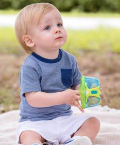 Vital Baby svacinova miska s vickem (modra) b