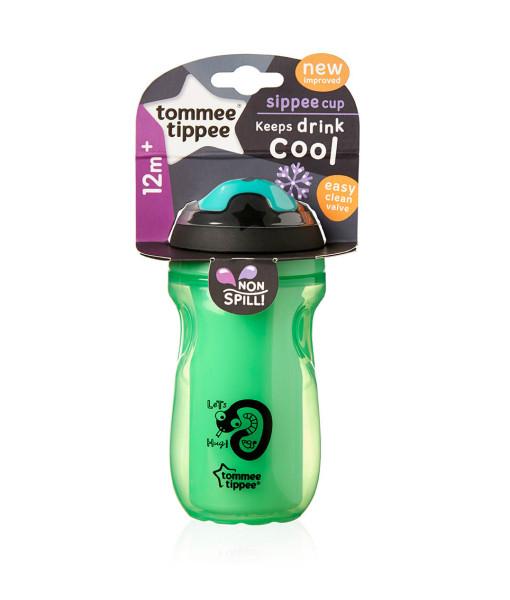 Tommee Tippee netekouci termo kelimek trenovaci 12m+, 260 ml (zeleny) b