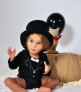 Rockabye Baby body Tuxedo (3 - 6 mesicu) b