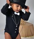 Rockabye Baby body Tuxedo (3 - 6 mesicu) c