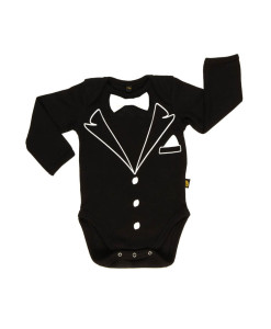 Rockabye Baby body Tuxedo (6 - 12 mesicu) a