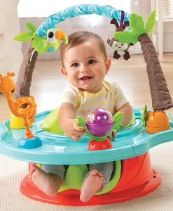 Summer Infant prenosne jidelni sedatko zidlicka Safari Deluxe 3v1 s otacecim pultem b