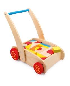 Legler choditko vozik s drevenymi kostkami b