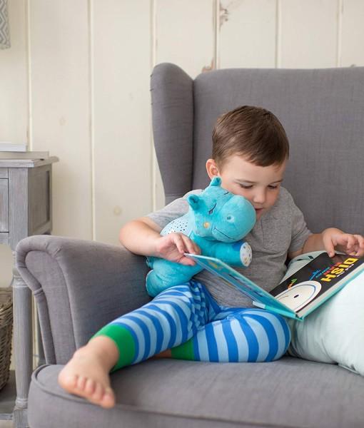 Summer Infant plysový hrosik s projektorem se zvuky c