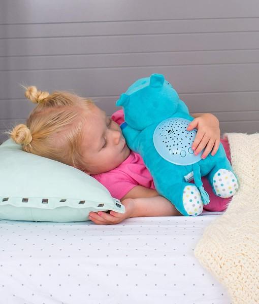 Summer Infant plysový hrosik s projektorem se zvuky f