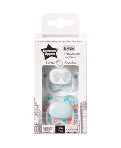 Tommee Tippee dudlik Little London (6 - 18 mesicu), 2 ks b