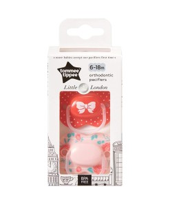 Tommee Tippee dudlik Little London Girl (6 - 18 mesicu), 2 ks b
