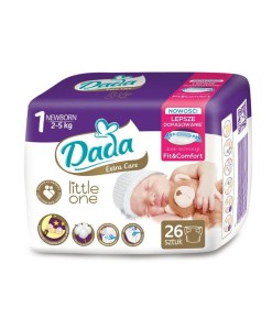 Dada plenky Extra Care Little One 1 Newborn (2 - 5 kg, 26 ks) a