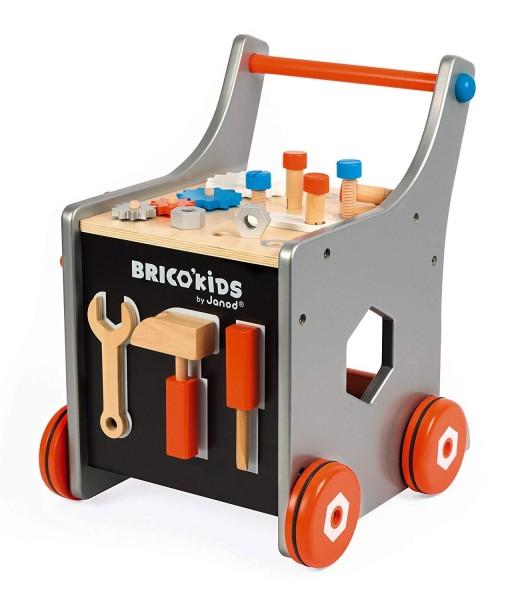 Janod dreveny vozik Brico Kids s magnetickym prislusenstvim c