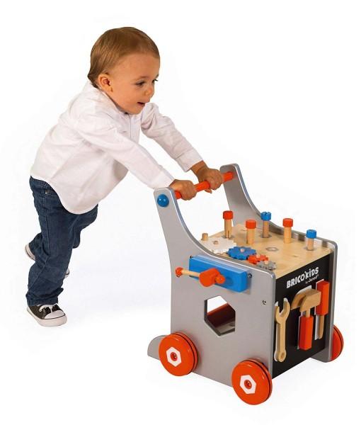 Janod dreveny vozik Brico Kids s magnetickym prislusenstvim f