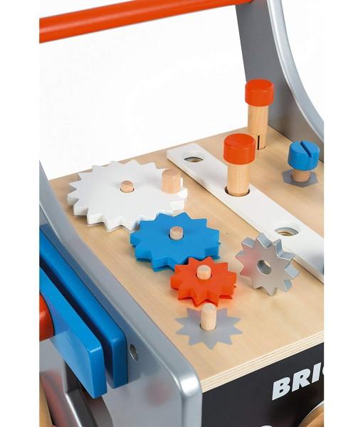 Janod dreveny vozik Brico Kids s magnetickym prislusenstvim h
