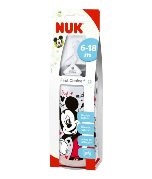 NUK First Choice+ lahev Disney Mickey New, 300 ml b