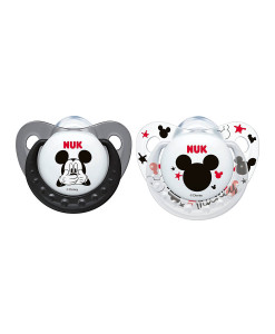 NUK dudlik Disney Mickey New, V1 (0 - 6 mesicu), 2 ks a