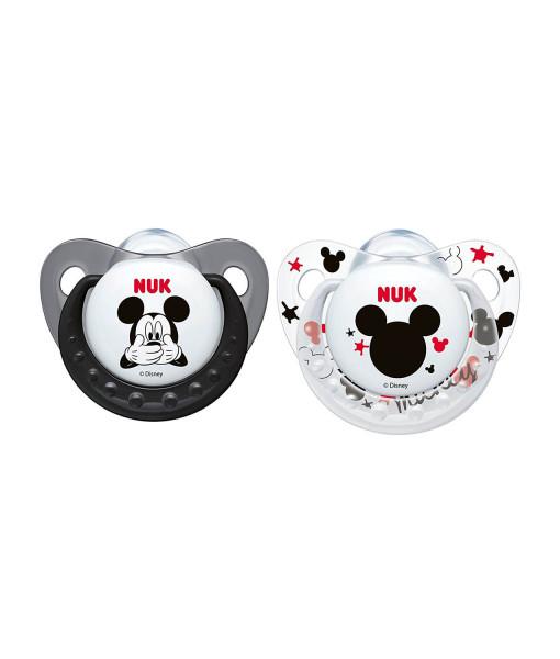 NUK dudlik Disney Mickey New, V1 (0 - 6 mesicu), 2 ks a